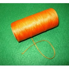 Нить плоская вощеная 1 мм оранжевая