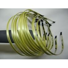 ободок  метал. с желтой атласной лентой 6мм