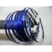 ободок  метал. с синей атласной лентой 6мм