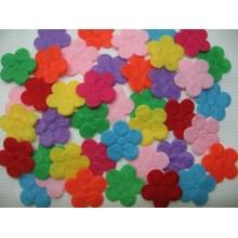 фетровые цветочки 2см микс