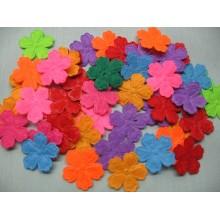 фетровые цветочки 2,2см микс