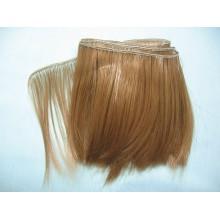 """Волосы для кукол """"каре"""" 10см (корич)"""