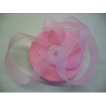 Органза лента 2см светло-розовый