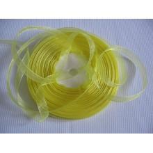 Органза лента желтая 6мм