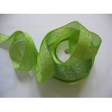 парча зеленая 2см