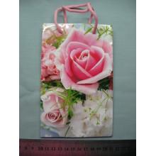 """Пакет подарочный 11x18x5 см """"Розовые розы"""""""