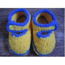 Пинетки желто-синие 2
