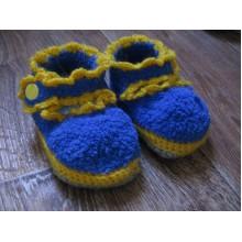 Пинетки желто-синие